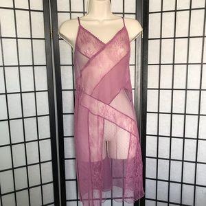 NEW Victoria's Secret Sheer Pink Lace Lingerie